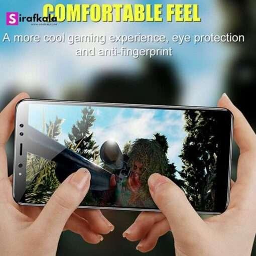 محافظ صفحه نمایش شیشهای مناسب گوشی موبایل سامسونگ گلکسی A6