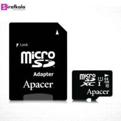 کارت حافظهی میکرو SD اپیسر UHS-I کلاس 10 - 64GB با آداپتور
