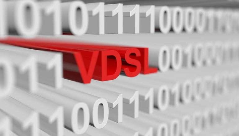 سرعت دریافت و انتقال در مودم های VDSL، 6 برابر ADSL می باشد.