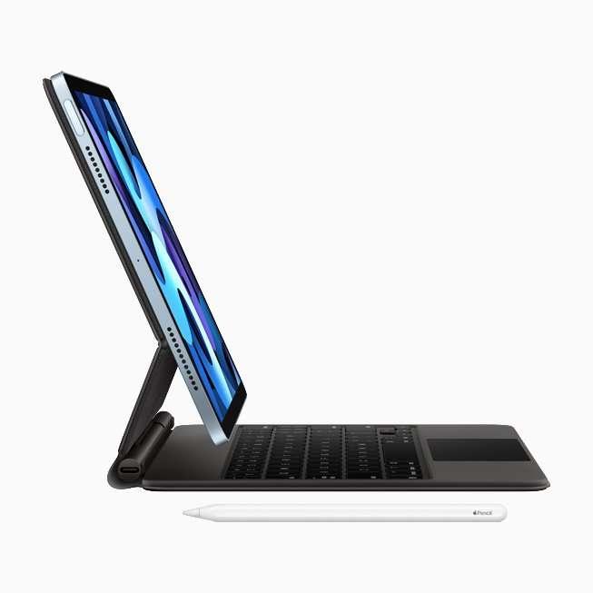 Apple Pencil و کیبورد جدید اپل روی آیپد ایر جدید